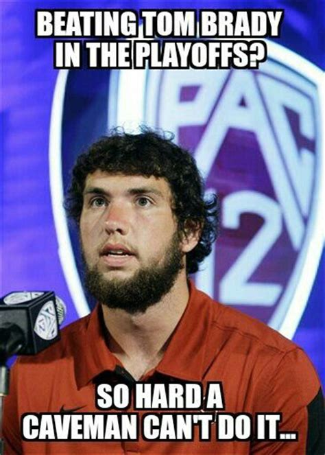 Andrew Luck Memes - andrew luck meme colts caveman neck beard shit that