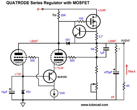 mosfet transistor high voltage quatrode
