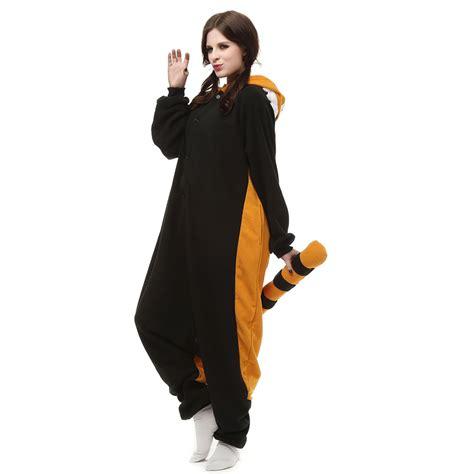 Kt Pj Top So49 Detail Di Pic raccoon kigurumi costume unisex fleece pajamas onesie