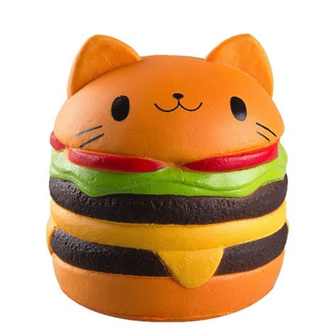Squishy Burger Jumbo gigglebread jumbo squishy cat burger buy in