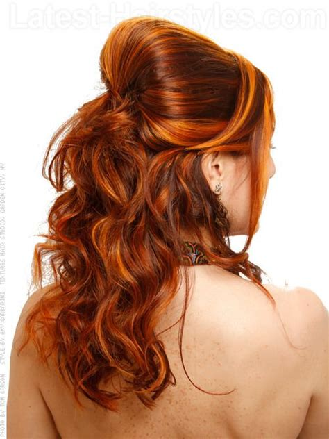 copper brown toner hair bright copper hair color with yellow and orange highlights
