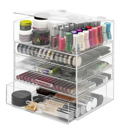 Makeup Organizer Shelf by Giveaway Whitmor 5 Tier Acrylic Cosmetic Organizer