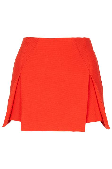 How To Make Origami Skirt - topshop crepe origami skirt in lyst