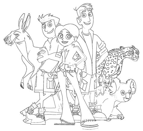 20 wild kratts coloring pages coloringstar
