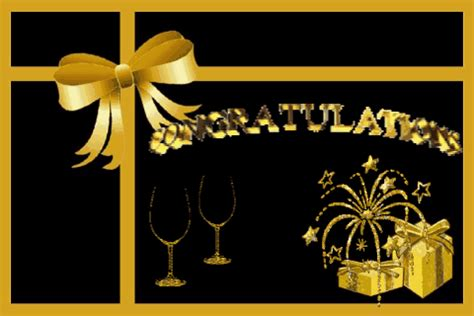 congratulations in black and gold. free for everyone