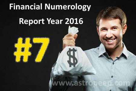 financial numerology 2016 personal number 7 astropeep com