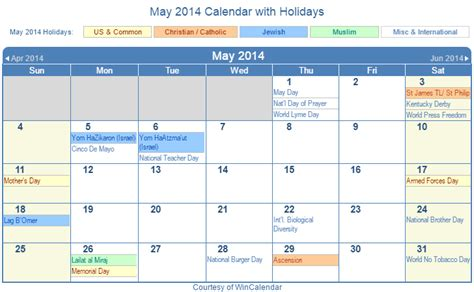 2014 Calendar With Holidays May 2014 Calendar With Holidays Pictures To Pin On
