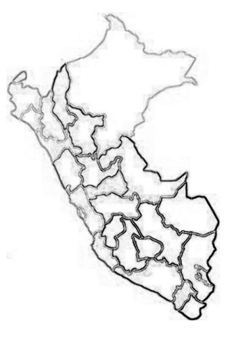 mapadeperu dibujo de mapa del peru para imprimir pintar y
