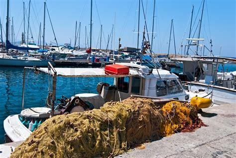 greek fishing boat images traditional greek fishing boat stock photo colourbox