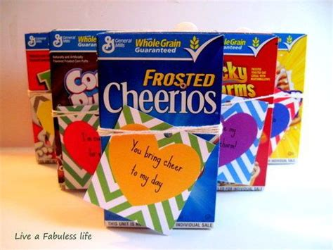 cereal box valentines cereal valentines gift ideas