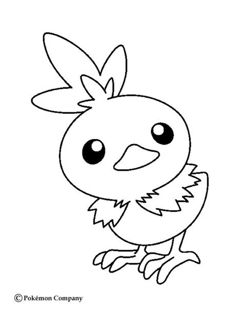 Pokemon Coloring Pages Torchic | little torchic coloring pages hellokids com