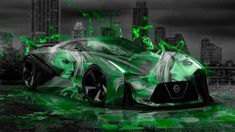 nissan gtr  concept anime aerography city car