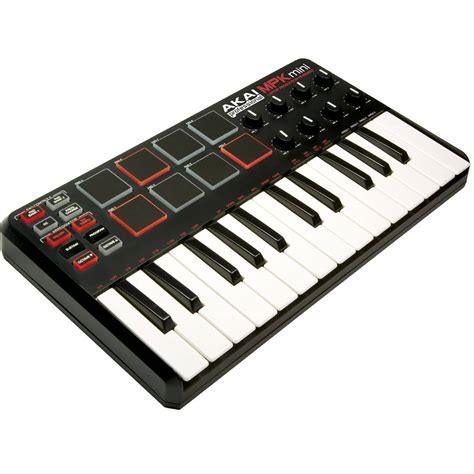 Keyboard Controller akai mpk mini midi usb controller keyboard midi controllers from inta audio uk