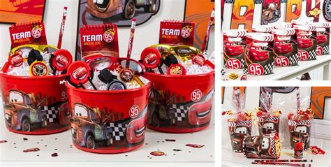 cars themed birthday giveaways cars party favors stickers tattoos stationery candy