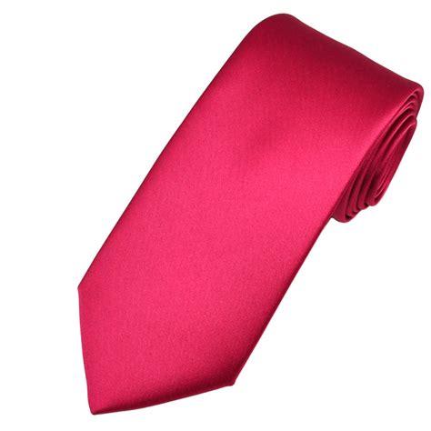 plain cerise pink satin tie from ties planet uk