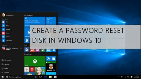 windows 10 password reset disk how to create a password reset disk in windows 10