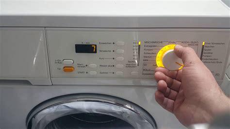 miele waschmaschine pruefprogramm nutzen und
