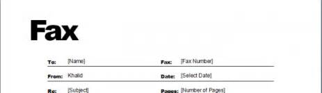 fax templates microsoft word templates