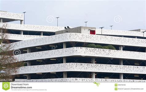 exterior view modern multi storey car park editorial photo image 66678446