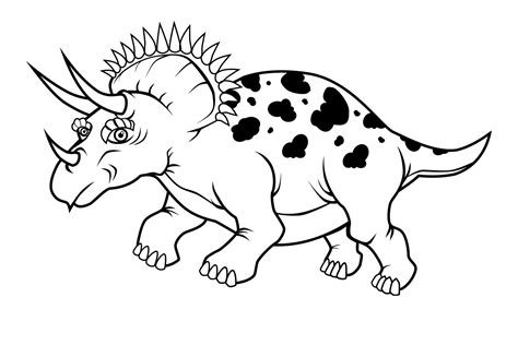 coloring page free free printable triceratops coloring pages for kids