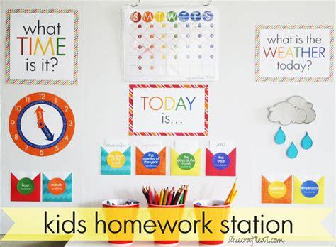 diy homework station for live craft eat