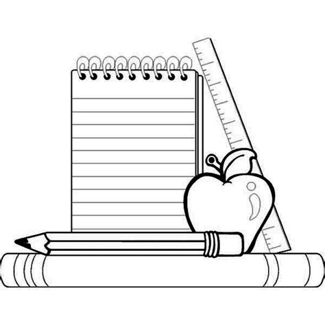 free coloring pages school supplies back to school coloring page clipart panda free