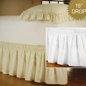 Cheap Wrap Around by Cheap Price Detachable Bedskirt Dust Ruffle King Size 18