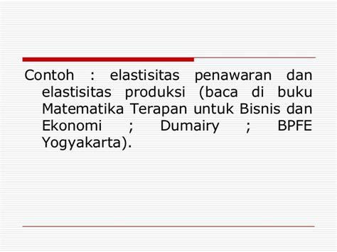Matematika Terapan Untuk Bisnis Dan Ekonomiby Dumairy fgs kubik