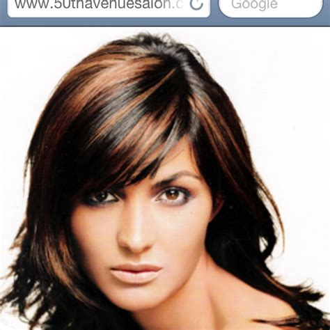 pics of different tones of highlights bangs only highlights on bangs only dark hair highlights hair