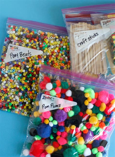 crafts supplies organizing craft supplies make and takes