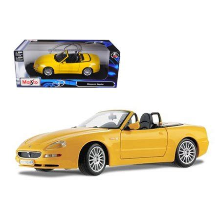 maserati model car maserati spyder yellow 1 18 diecast model car by maisto