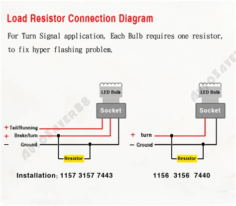 3157 load resistor install 2pcs 50w 6ohm load resistor for turn signals blinker led bulb fast flash fix ebay