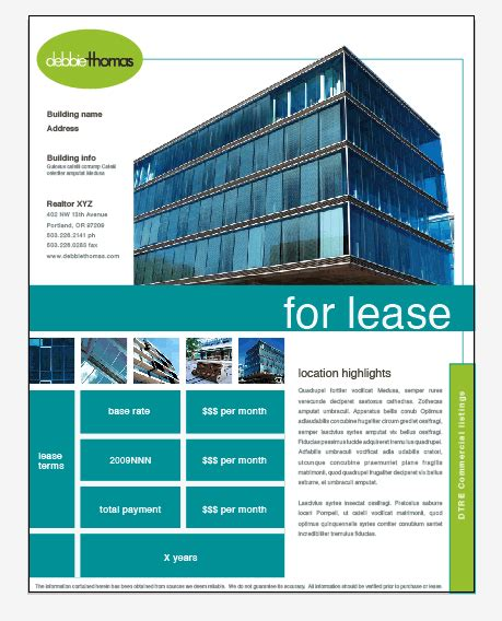 Pin By Kistner Group Creative Agency On Marketing Collateral Pinterest Real Estate Flyers Commercial Property Brochure Template