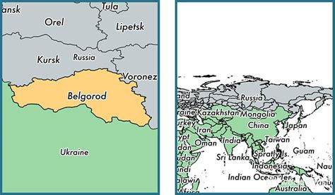 russia map belgorod belgorod oblast administrative region russia map of