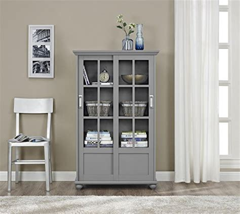 Ameriwood Furniture Aaron Bookcase With by Ameriwood Home Aaron Bookcase With Sliding Glass