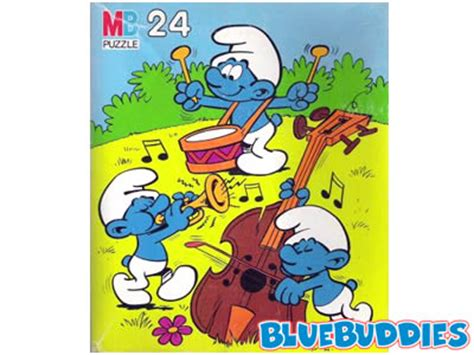 smurfs songs smurf puzzles 24 pieces musical smurfs puzzle western