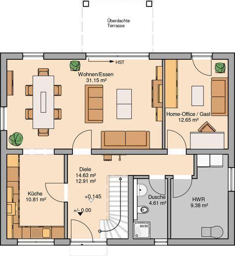 grundriss 4 schlafzimmer kern haus familienhaus signum plus grundriss erdgeschoss