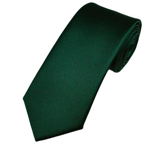 plain bottle green satin tie from ties planet uk