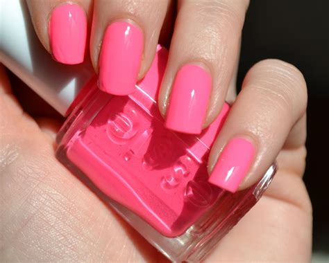 pink nail colors makeupvitamins essie punchy pink 694 swatch review dupes