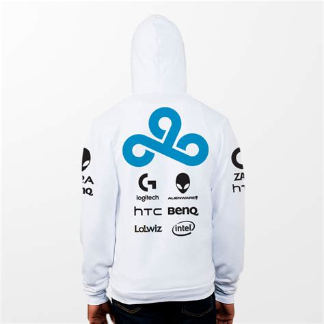 Hoodie Sweater Zipper Cloud 9 Gaming Navy Sainsrobotic Merch lol gaming team cloud 9 c9 original design dota2 fleece hoody cloud9 hoodies