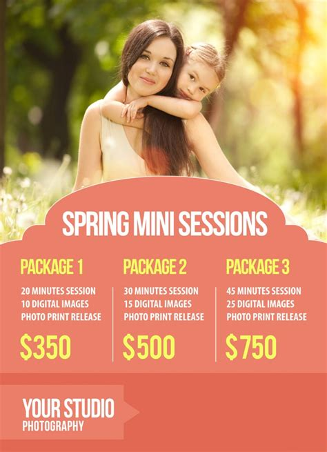 Free Gift Mini Session Marketing Template Free Mini Session Templates