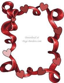 free printable heart border customize download