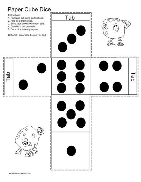 dice bingo printable make a paper cube dice http www kidscanhavefun com paper