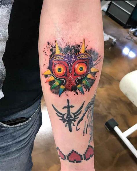 majora mask tattoo of zelda best tattoo ideas gallery