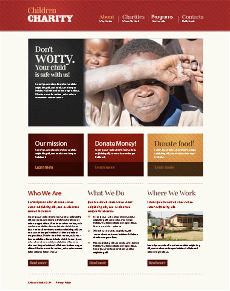 charity newsletter template 17 charity html website templates free premium