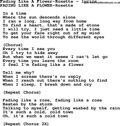 Roxette fading like a flower mp3 скачать бесплатно слушать онлайн.