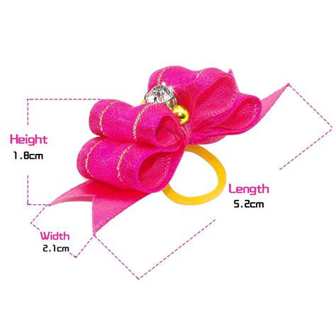 puppy hair bows 20 50 100pcs handmade designer hair bows with rubber bands rhinesrone cat puppy