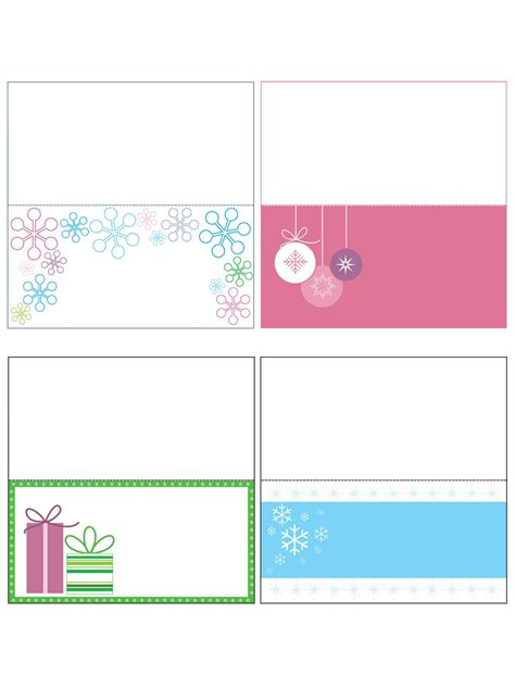 Name Card Templates For Christmas Fun For Christmas Name Card Template