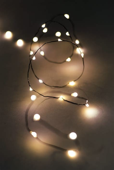 Fairy Lights Outdoor 10ft 60 Warm White Battery Op Led Light String
