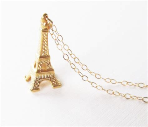 eiffel tower necklace gold filled necklace gift for